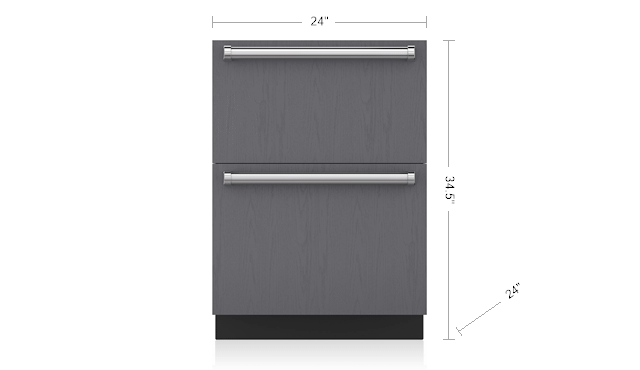 "Subzero24"" Designer Freezer Drawers - Panel Ready"