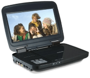 "Portable DVD Player with 8"" LCD Screen"
