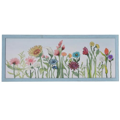 Style Craft - SWAYING BLOOMS I  50in w X 20in ht  Made in USA  Textured Framed Print