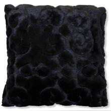 See Details - SCULPTURE BLACK PILLOW  Down Feather Insert  Set Of Two