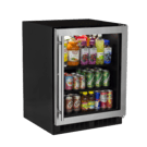 24-In Low Profile Built-In High-Capacity Refrigerator with Door Style - Stainless Steel Frame Glass Product Image