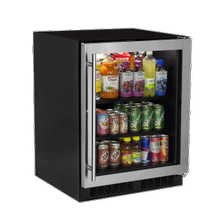 24-In Low Profile Built-In High-Capacity Refrigerator with Door Style - Stainless Steel Frame Glass