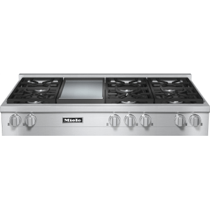 RangeTop with 6 burners and griddle for versatility and performance
