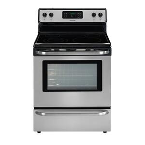 REFURBISHED Frigidaire 30'' Freestanding Electric Range. (This is a Stock Photo, actual unit (s) appearance may contain cosmetic blemishes.  Please call store if you would like actual pictures).  This unit carries our 6 month warranty, MANUFACTURER WARRANTY and REBATE NOT VALID with this item. ISI 41044