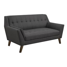 Binetti Loveseat, Charcoal Pebble U3216-01-03