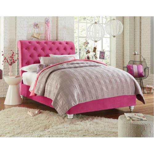 Standard Furniture - Uph Pink Footboard W/rails, 3/3