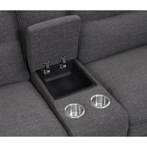 Alberta 6 Piece Modular Reclining Sectional Set, Charcoal Gray U8040-05-6pc-k