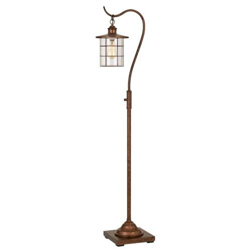 Cal Lighting & Accessories - Silverton floor lamp With Glass Shade (Edison Bulb included)
