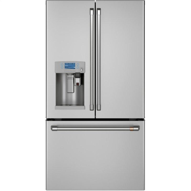 Cafe™ ENERGY STAR® 22.1 Cu. Ft. Smart Counter-Depth French-Door Refrigerator with Keurig® K-Cup® Brewing System