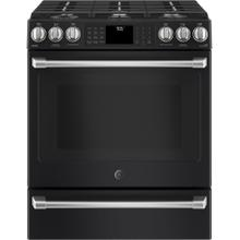 See Details - Slide-In Front Control, 5.6 cu ft, PreciseAir True Convection, Wifi Connected Oven - Black Slate