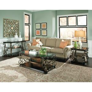 Standard Furniture - Seville End Table, Warm Burnished Bronze Base