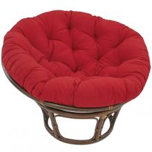 Bali 42-inch Indoor Fabric Rattan Papasan Chair - Walnut/Ruby Red