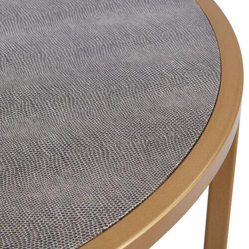 Anza Faux Shagreen Nesting Coffee Table Set of 2, Chronicle Gray