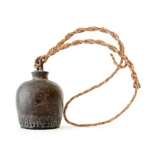 Antique Cambodian Temple Bell on Stand
