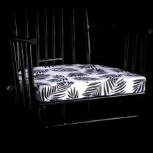Product Image - BLACK PALM MACAU CUSHION  3in X 20in  Black Palm Beach Cushion. Vibrant colors and bold pattern ch