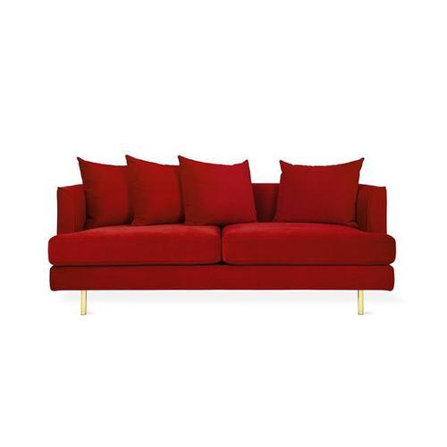 Product Image - Margot LOFT Sofa Velvet Sangria / Brass