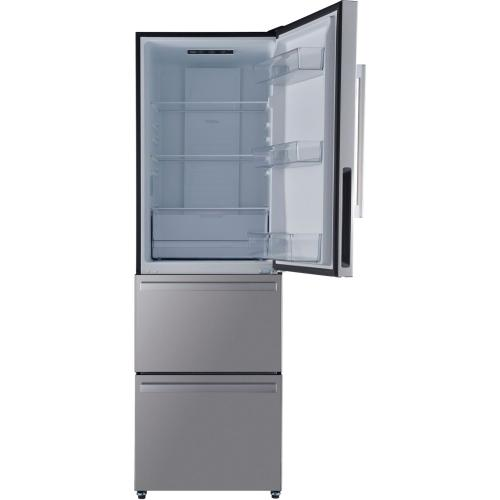Galanz - Galanz 12.4 Cu Ft Built In Ice Makers Refrigerator in Stainless Steel