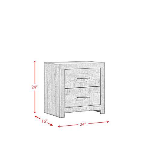 Bailey 2-Drawer Nightstand