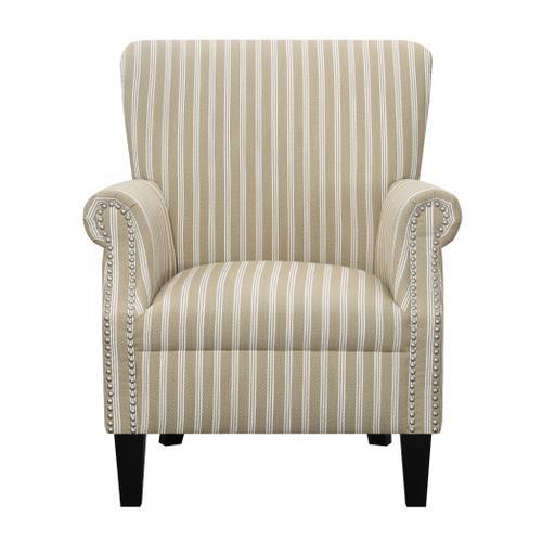 Oscar Chair & Ottoman Set, Tan Stripe U3538-05-03-15-2pc-k