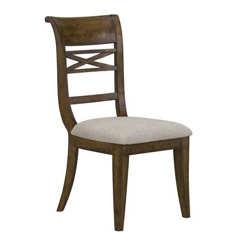 Standard Furniture - Beckman 2-Pack Upholstered Side Chair, Walnut