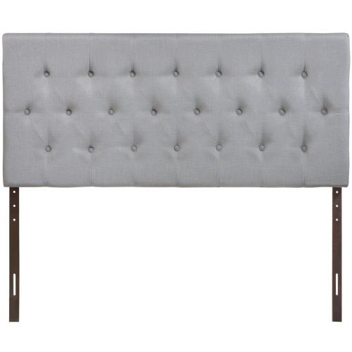 Clique King Upholstered Fabric Headboard in Sky Gray