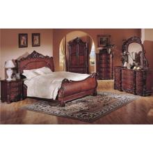 "5PC ""QUEENS"" BEDROOM SET IN RICH CHERRY (Q/D/M/N/C)"