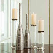 Nifty Vase-Silver-Lg