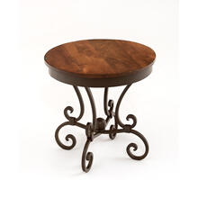 Steel Traditions - Tuscany Round End Table