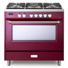 "Burgundy 36"" Dual Fuel - Designer Series"
