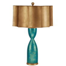 See Details - Tassled Turquoise Lamp