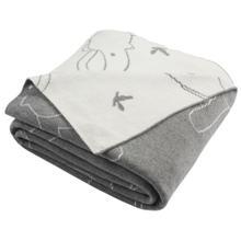 Ella Knit Throw - Light Grey/ivory
