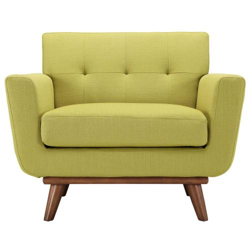 Modway - Engage Armchair Wood Set of 2 in Wheatgrass