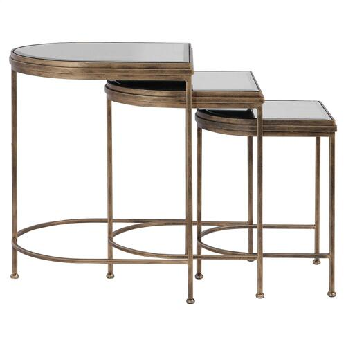 India Nesting Tables, S/3