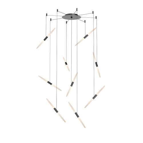 Sonneman - A Way of Light - Ballet LED Pendant [Size=9-Light, Color/Finish=Satin Black, Shape=Swag]
