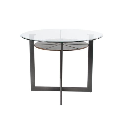 Gallery - Olson 5 Piece Counter Set (Glass Counter Top Table & 4 Counter Chairs)