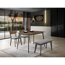 Modrest Lillian - Modern Walnut and Grey Dining Set
