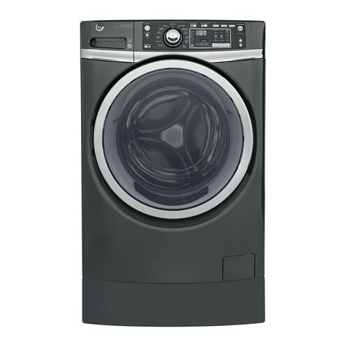 GE Appliances - GE® 4.9 DOE cu. ft. Capacity RightHeight™ Front Load ENERGY STAR® Washer with Steam