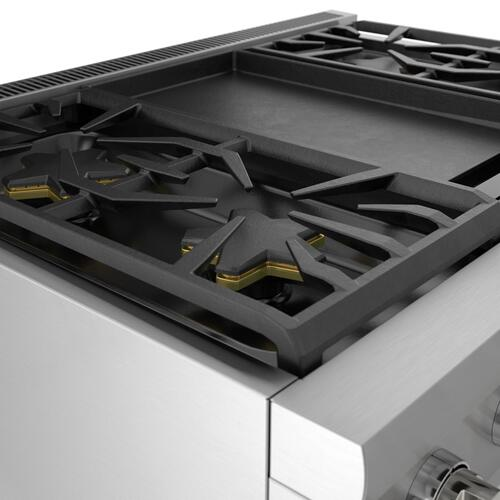 Thermador - Gas Professional Range 36'' Pro Harmony® Standard Depth Stainless Steel PRG364WDH