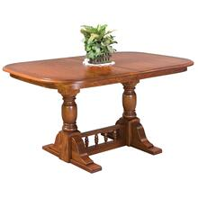 """See Details - 60"""" Innkeeper's Double Pedestal Extension Table"""