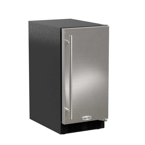 15-In Low Profile Built-In Clear Ice Machine With Arctic White Illuminice with Door Style - Stainless Steel, Door Swing - Right, Pump - Yes