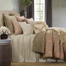 See Details - Luna Bedspread Set W/ Drop Skirt, Tan - Full