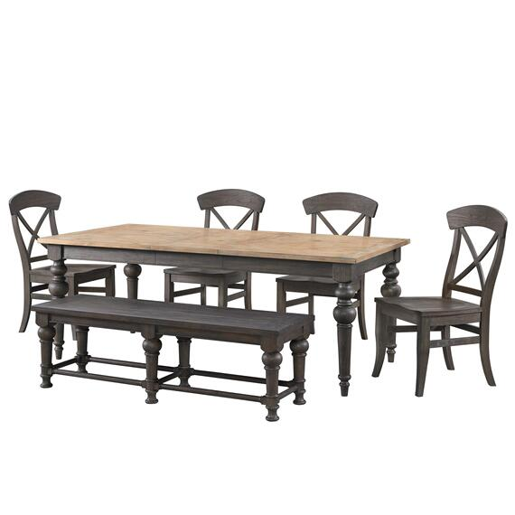 Riverside - Harper - Dining Bench - Matte Black Finish