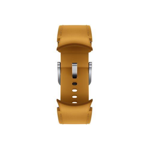 Samsung - Galaxy Watch4, Galaxy Watch4 Classic Hybrid Leather Band, S/M, Mustard