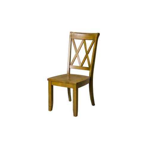 Standard Furniture - Vintage Distressed 2-Pack Honey Oak Side Chairs