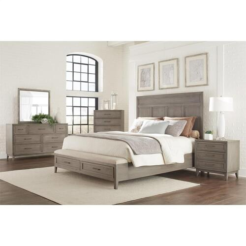 Vogue - King/california King Panel Headboard - Gray Wash Finish