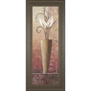 """""""Flower In Vase I"""" Framed Print Wall Art"""