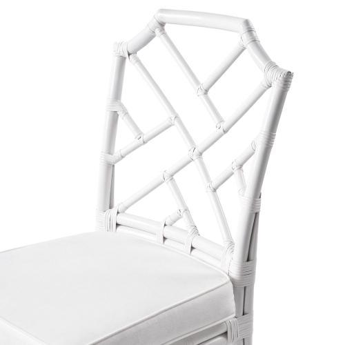 Kara Rattan Chair, White