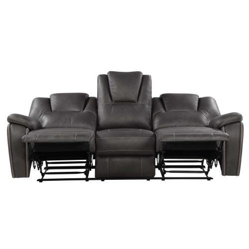 Katrine Manual Reclining Sofa, Charcoal