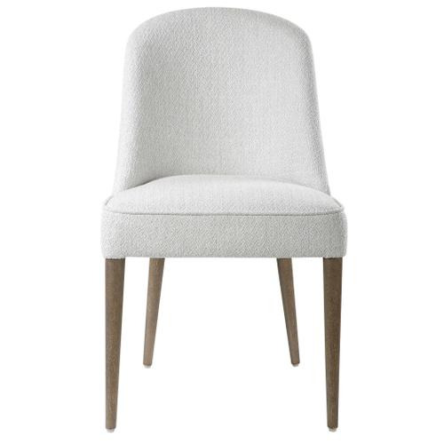 Brie Armless Chair, White, 2 Per Box