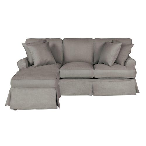 Horizon Slipcovered Sleeper Sofa and Chaise - Color: 391094